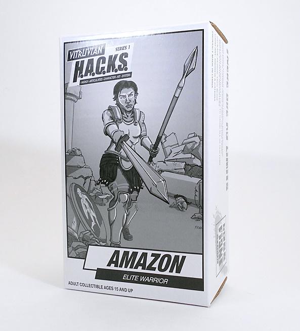 2017 patron lutte Studios Vitruvian HACKS 1:18 Figure Comme neuf on Card-Amazon Warrior