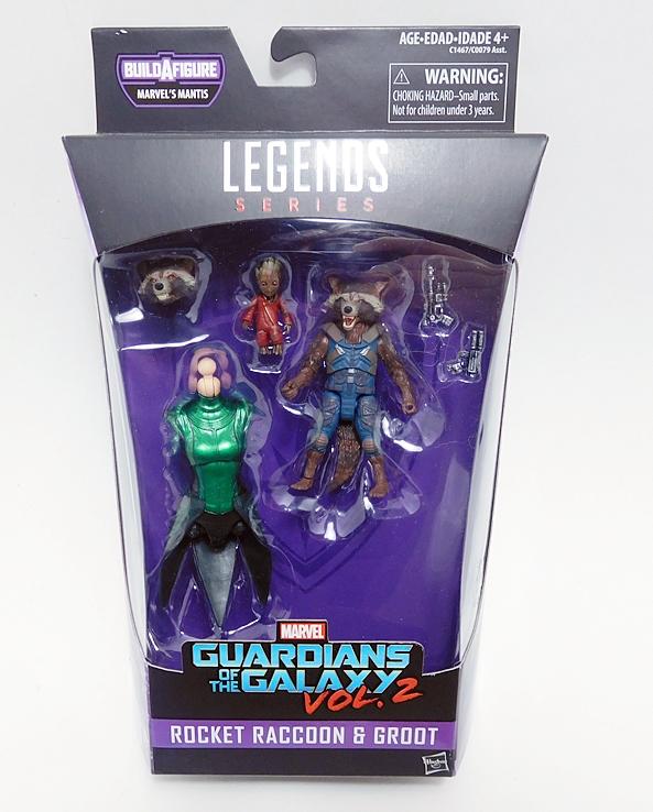 Marvel Legends Serie Hasbro Mantis Rocket Raccoon /& Groot