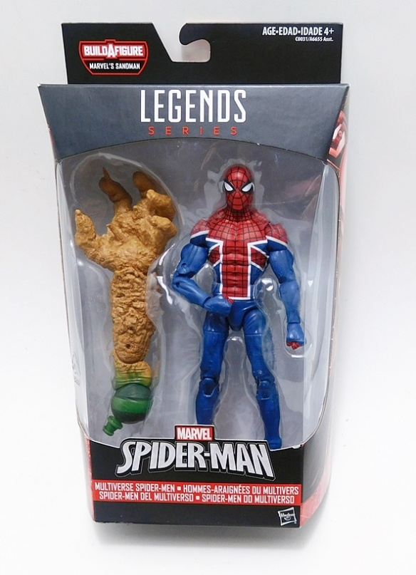 Marvel Legends 2017 SPIDER-MAN UK FIGURE Loose 6 Inch Sandman Wave Spider-verse
