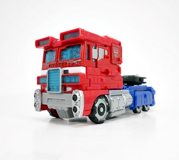 Hasbro Engraving G1 optimus prime car carriage color metal deformation toy box